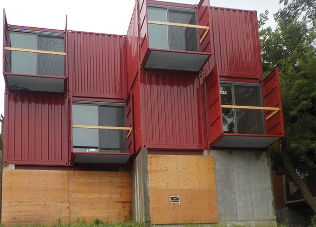 Hamilton's First Shipping Container Home is Strikingly Unique