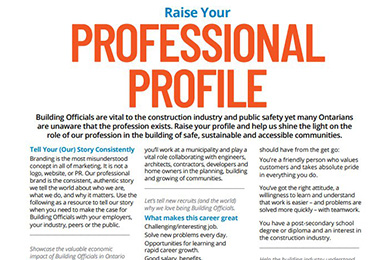 Raise your professional profile tip sheet