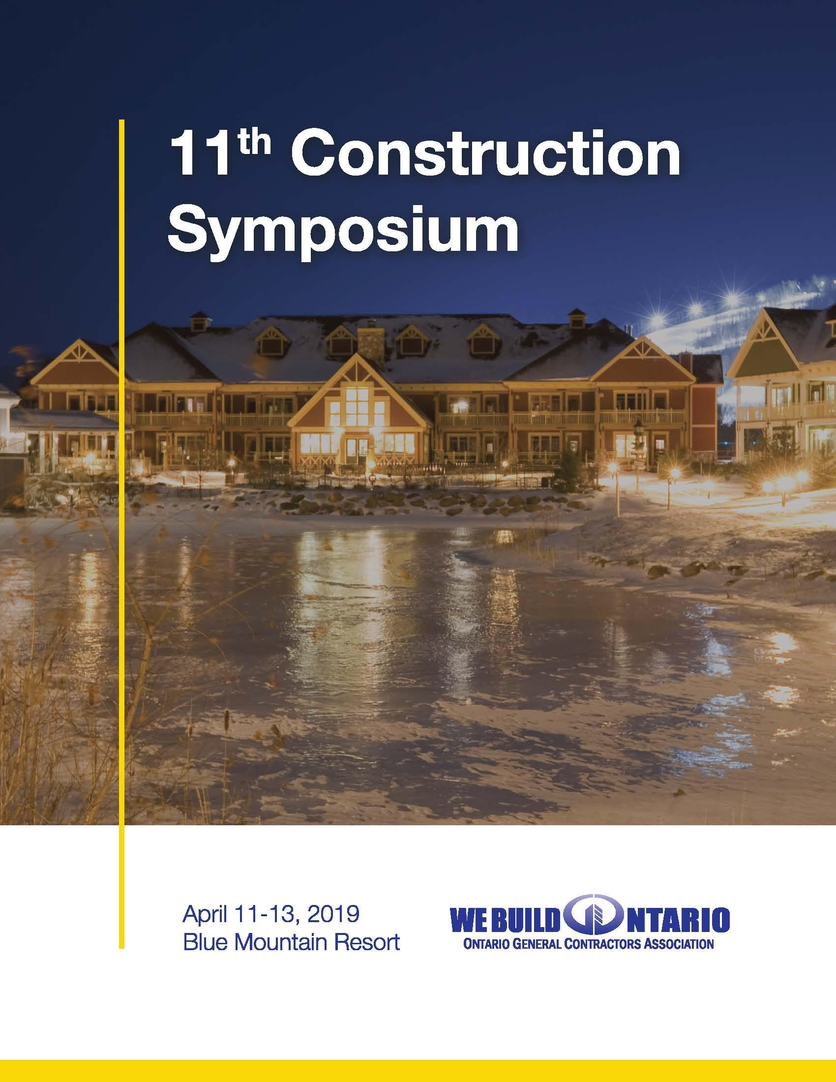 OGCA - 11th CONSTRUCTION SYMPOSIUM 2019