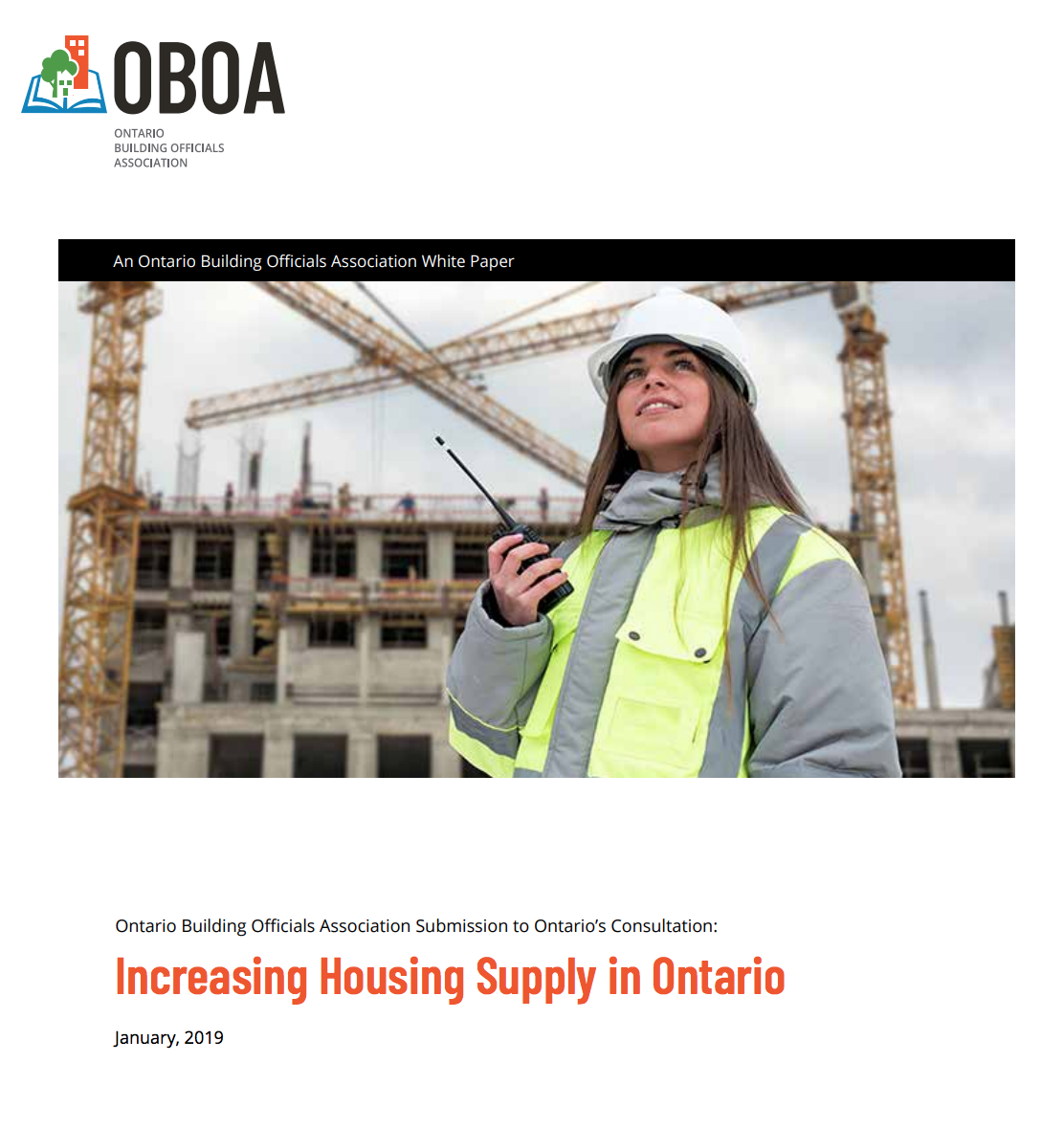 OBOA White Paper: Increasing Housing Supply in Ontario