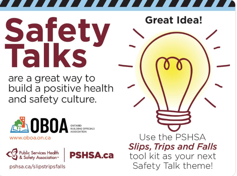PSHSA Slips, Trips & Falls Toolkit: Safety Talks Build Positive Health & Safety Culture