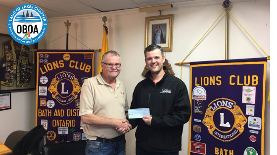 Land of Lakes Chapter Donates $400 to the Bath and District Lions Club