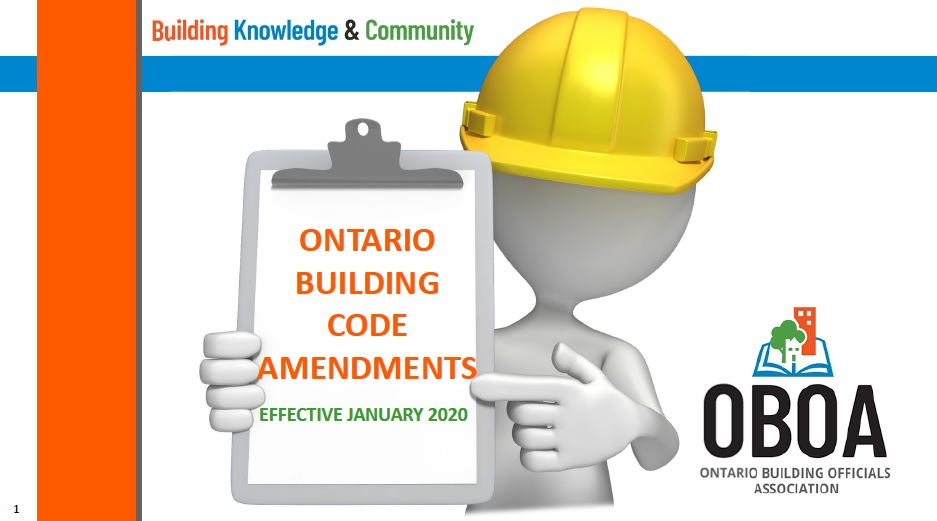 Amendments to the Ontario Building Code